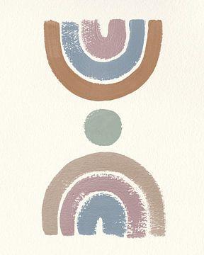 Desert Rainbows I Blue, Moira Hershey van Wild Apple