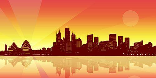 Sydney Skyline van Sandra Höfer