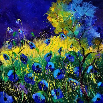 Blaue Mohnblumen von pol ledent