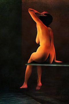 Naakte vrouw – Naakte vrouw aan het zwembad