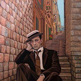 Peinture de Buster Keaton 2 sur Paul Meijering