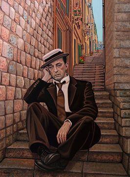 Buster Keaton Schilderij 2 van Paul Meijering