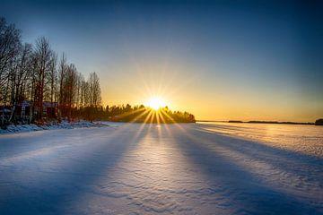 Coucher de soleil de janvier sur Torfinn Johannessen