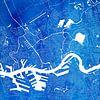 Rotterdam Stadskaart | Blauw Vierkant van Wereldkaarten.Shop thumbnail