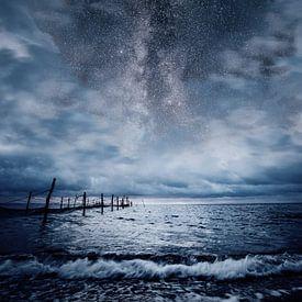 Stürmische See bei Nacht von Oliver Henze