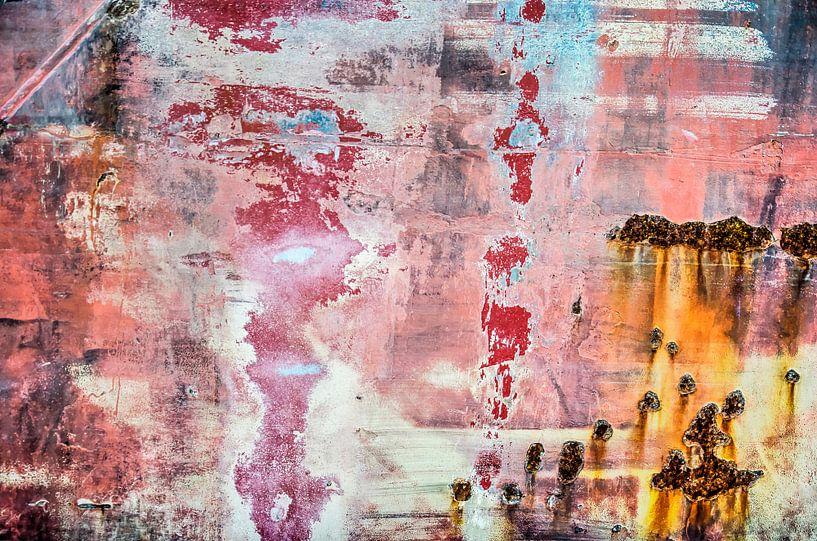 Scheepsromp in rose, rood en wit van Frans Blok