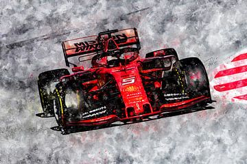 Sebastian Vettel, Ferrari 2019 von Theodor Decker