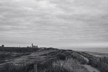 Vlissingen depuis les dunes. sur Eugenlens