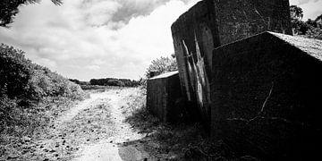 Weg langs een verdedigingswerk von Erwin Zeemering