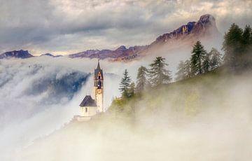 Kirche Santa Barbara, Tolpei, Dolomiten von Adelheid Smitt