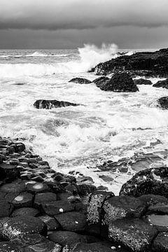 Surfen bij Giant's Causeway van Severin Frank Fotografie