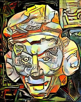 Maya Masker Motief 1 van zam art