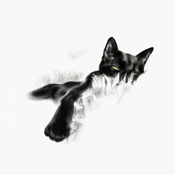 Faule Katze von Olga Tromp