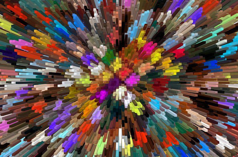 3D Blocks Abstract von Marion Tenbergen