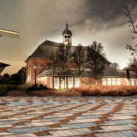 Collage Molen en Dorpskerk in 's-Gravenzande van PAM fotostudio