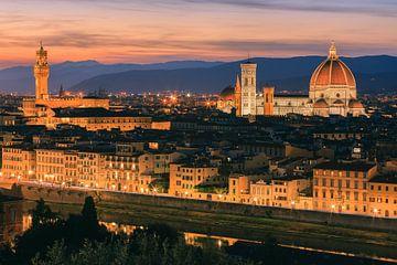 Florence vanuit Piazzale Michelangelo van Henk Meijer Photography