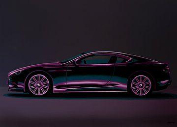 Aston Martin DBS V12 2007 Gemälde von Paul Meijering