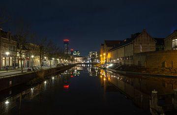 Blokhuispoort Leeuwarden bij nacht van Dennis den Hamer