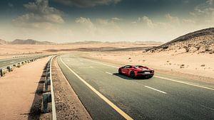 Lamborghini Aventador S Roadster vs. desert roads I van