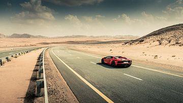 Lamborghini Aventador S Roadster vs Desert roads I von Dennis Wierenga