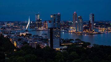Skyline van Rotterdam van victor van bochove