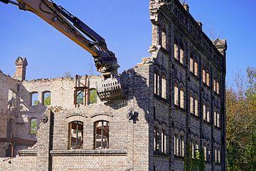 Sloop van het opslaggebouw van het Böllberger Mühle-complex in Halle ex in Halle van Babetts Bildergalerie