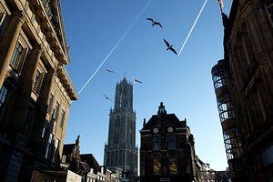 Domtoren Utrecht vanaf de Stadhuisbrug van
