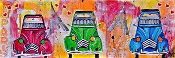 Lelijke Eendjes  2CV- van Kunstenares Mir Mirthe Kolkman van der Klip