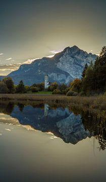 Fennersee, Fennberg, Favogna, Südtirol, Alto Adige, Italien von Rene van der Meer