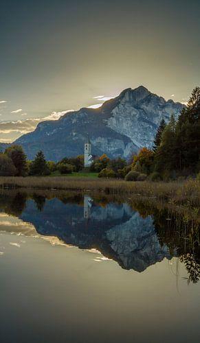 Lake Fenner, Fennberg, Favogna, Italië, Südtirol, Alto Adige, Italy,