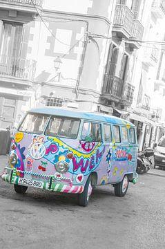 Ibiza Hippie Bus Volkswagen van Marc van Gessel
