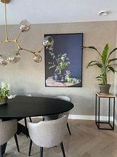 Klantfoto: Stilleven met fluitenkruit en tin op hout [verticaal] van Affect Fotografie, op canvas