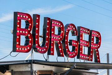 Hamburgertent Rode Lampen Letters