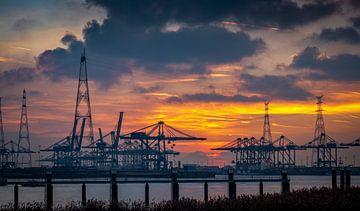 Port d'Anvers, Belgique sur Philippos Kloukas