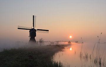 Op een mistige zondagmorgen van Gert van der Hee