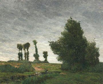 Landschaft mit Pappeln, Paul Gauguin