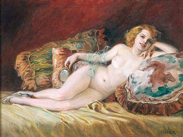 Weiblicher Akt, liegend, Richard Geiger von Atelier Liesjes