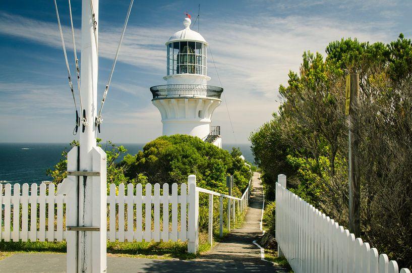 Sugarloaf Point Lightstation Walk way, Australië van Sven Wildschut
