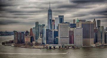 Schitterende New York Skyline van Maurits van Hout