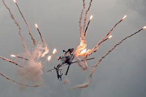 Apache demo met flares van