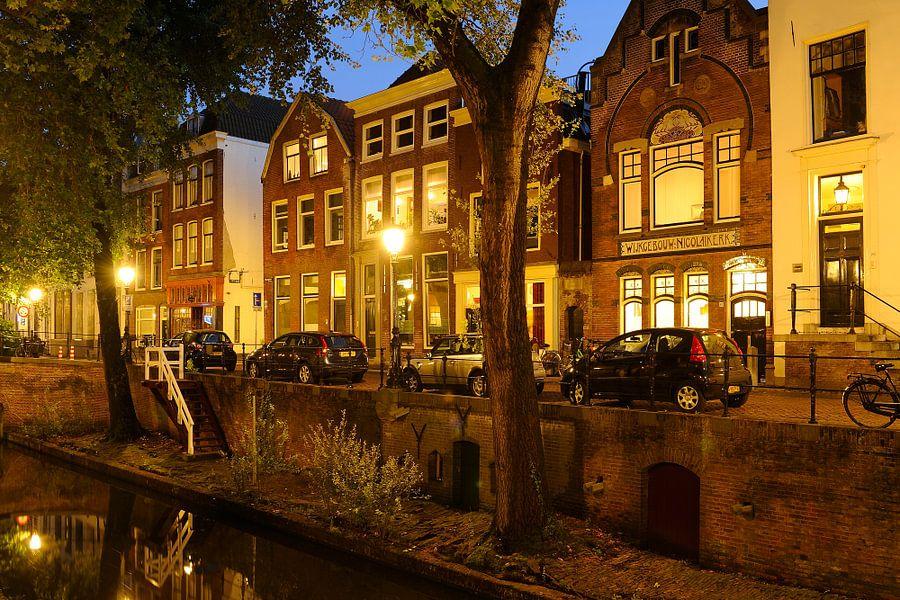 Nieuwegracht in Utrecht tussen Quintijnsbrug en Magdalenabrug