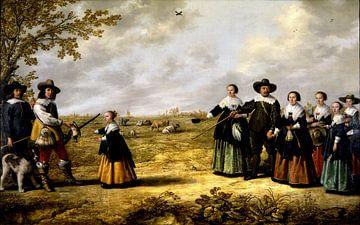 Porträt einer Familie in einer Landschaft, Jacob & Albert Cuyp