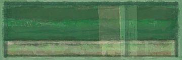Panorama 'Rothko', groentinten van Rietje Bulthuis