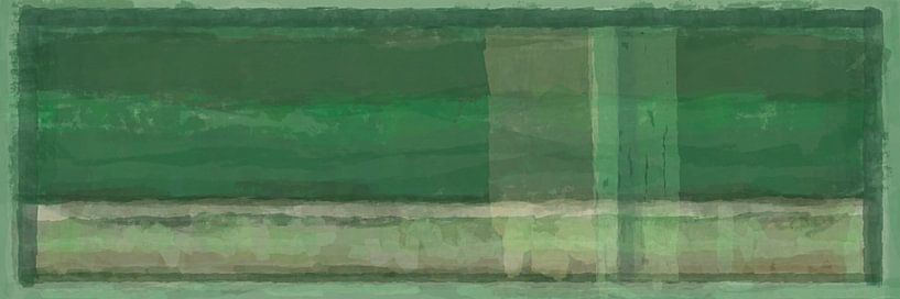Panorama 'Rothko', Grüntöne von Rietje Bulthuis