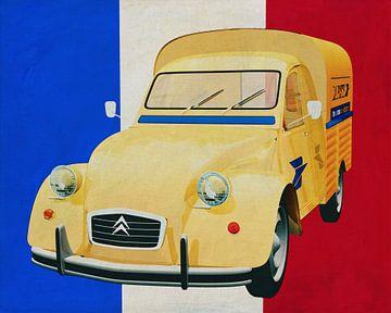 Citroen 2CV voor de Franse vlag