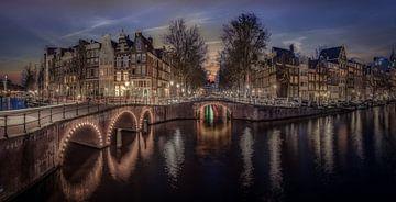 Grachten Amsterdam Panorama van Mario Calma
