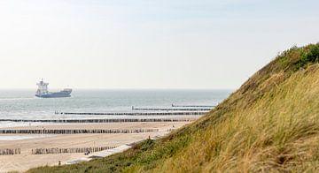 Schip met duinen van Percy's fotografie