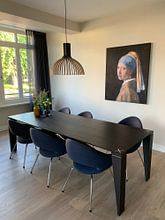 Kundenfoto: Das Mädchen mit dem Perlenohrgehänge - Vermeer Gemälde, als akustikbild