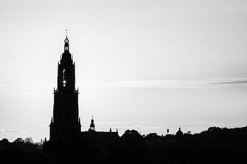 Schwarz-weißer Sonnenuntergang von Max ter Burg Fotografie