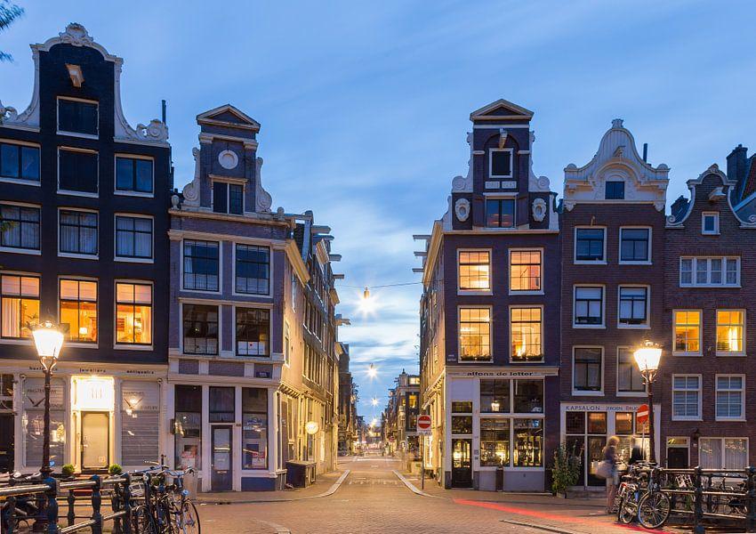 Amsterdam 9 straatjes van orhan sahin op canvas behang en for Interieur 9 straatjes